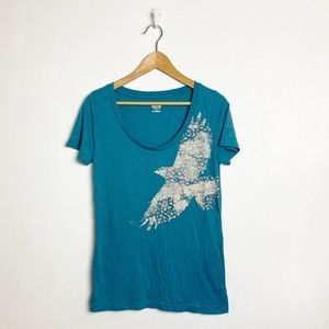 Mossimo floral bird print short sleeve graphic tee